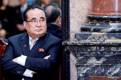 North Korean ruling party senior leader Ri Su Yong is seen at the President Palace in Hanoi, Vietnam, March 1, 2019.